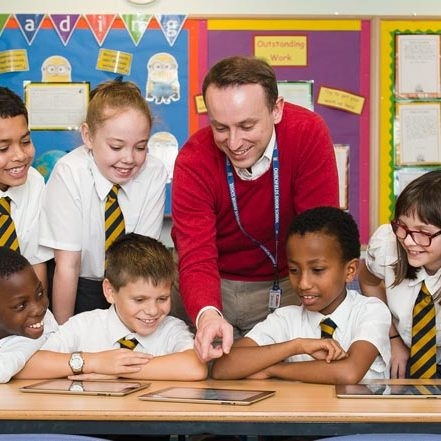 Mr Wilkins together with the Digital Leaders