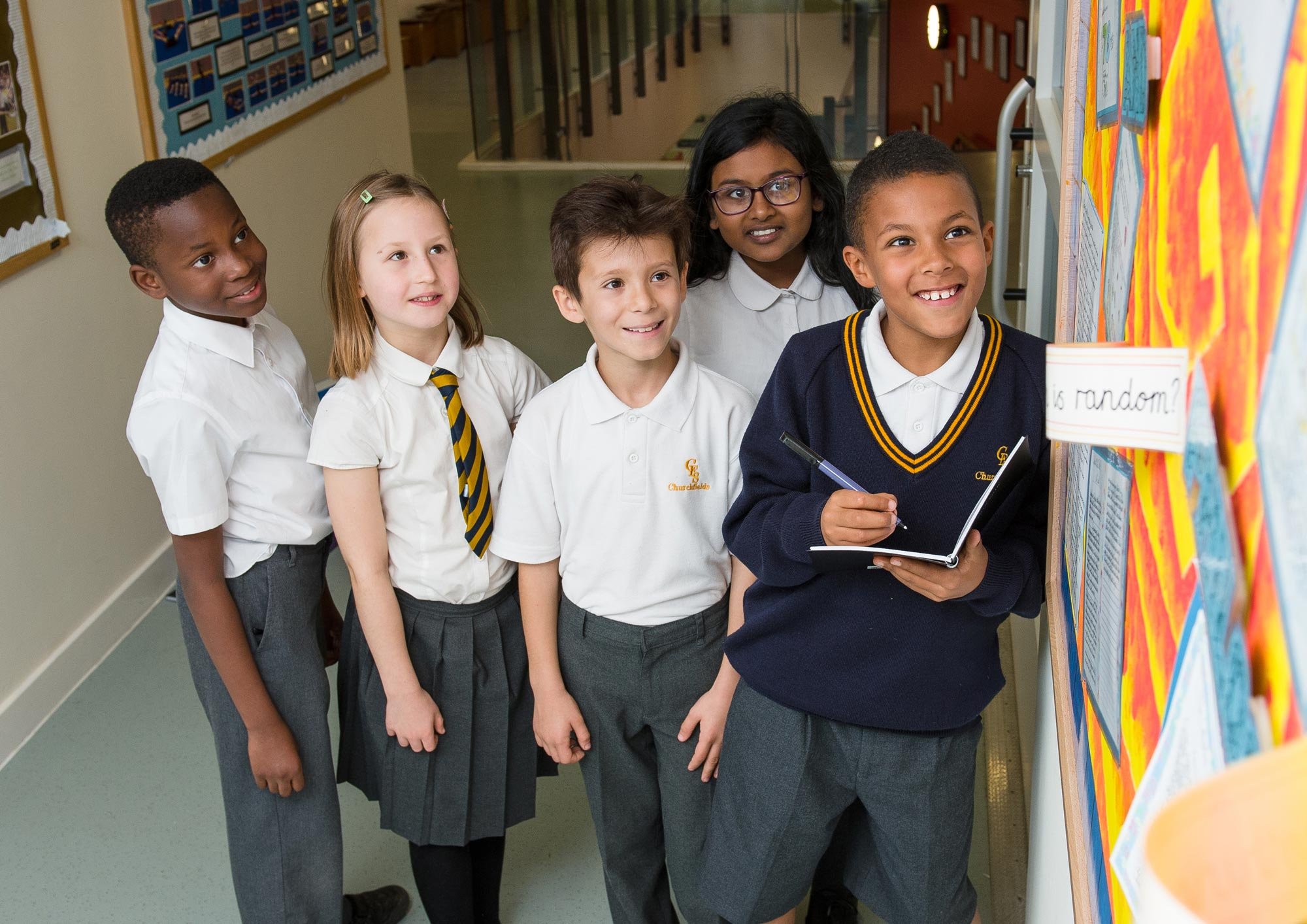 Children in corridor
