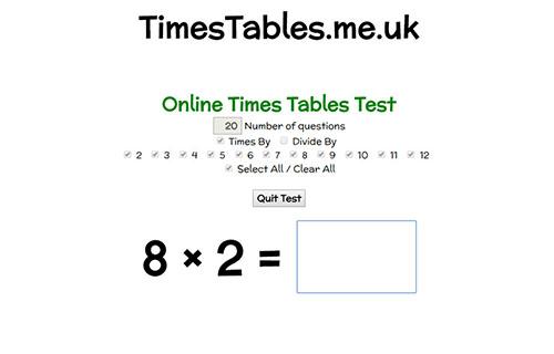 TimesTables.me.uk