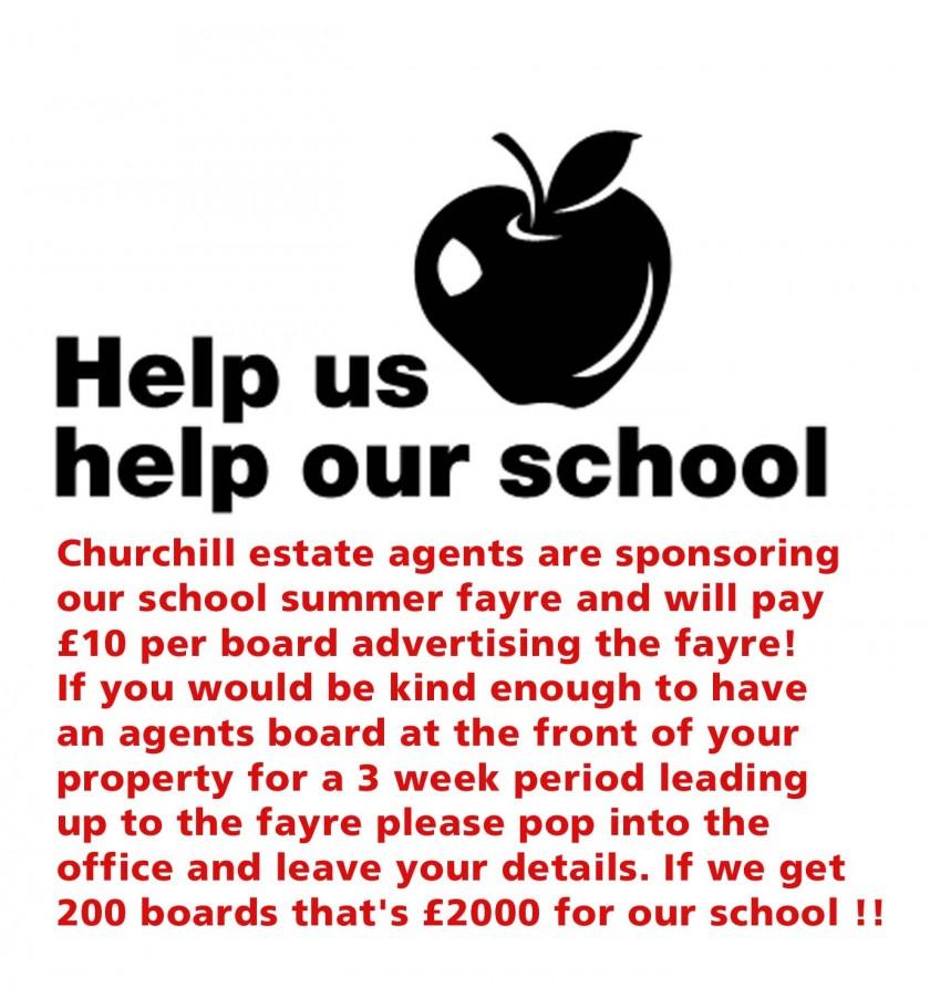 Help us help our school