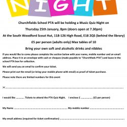 Music Quiz Night Flyer 2018