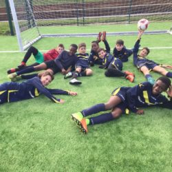 Year 6 football team win against Wells