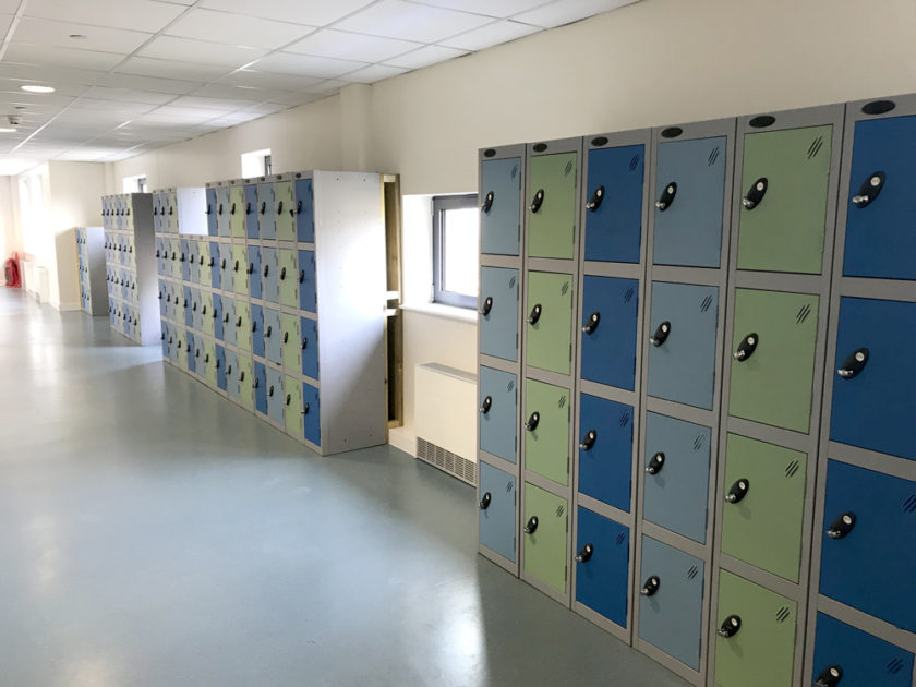 New lockers in the corridor