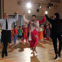 Rt. Hon. Iain Duncan Smith enjoying Bhangra dancing
