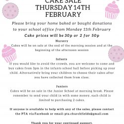 Valentines cake sale poster