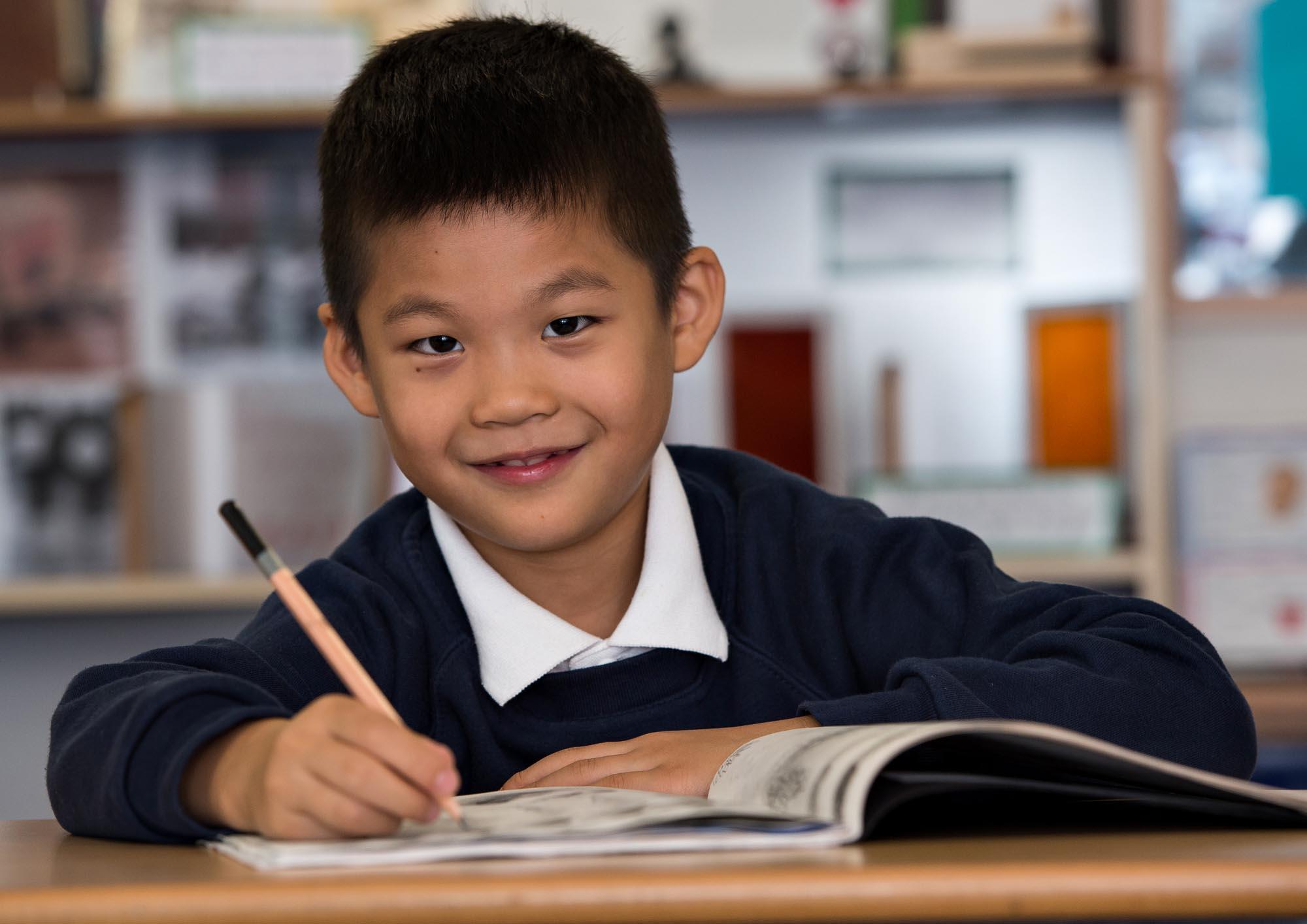 Child sketching