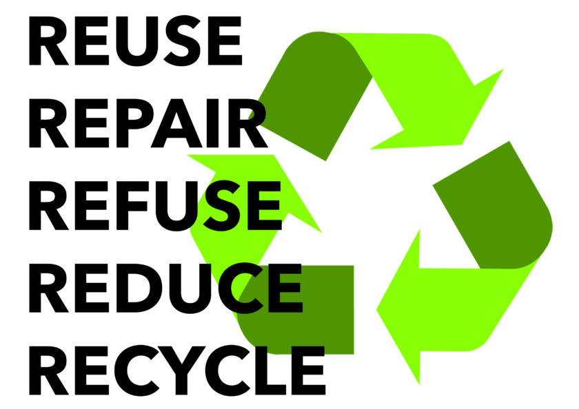 Reuse, repair, refuse, reduce, recycle