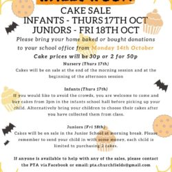 Halloween cake sale poster