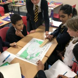 Children learning about meteorology