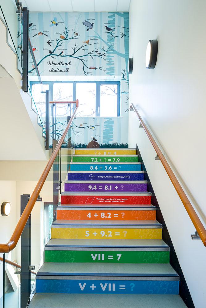 Woodland stairwell