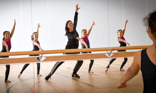 Mrs Bradley teaching dance