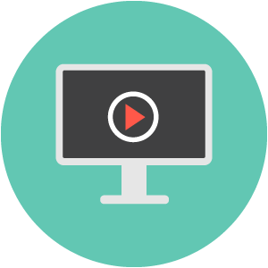 Computing videos icon