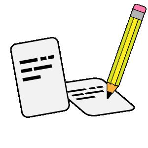Cards Write quiz icon