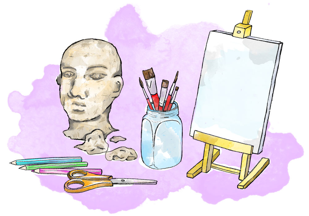 Illustration of art material
