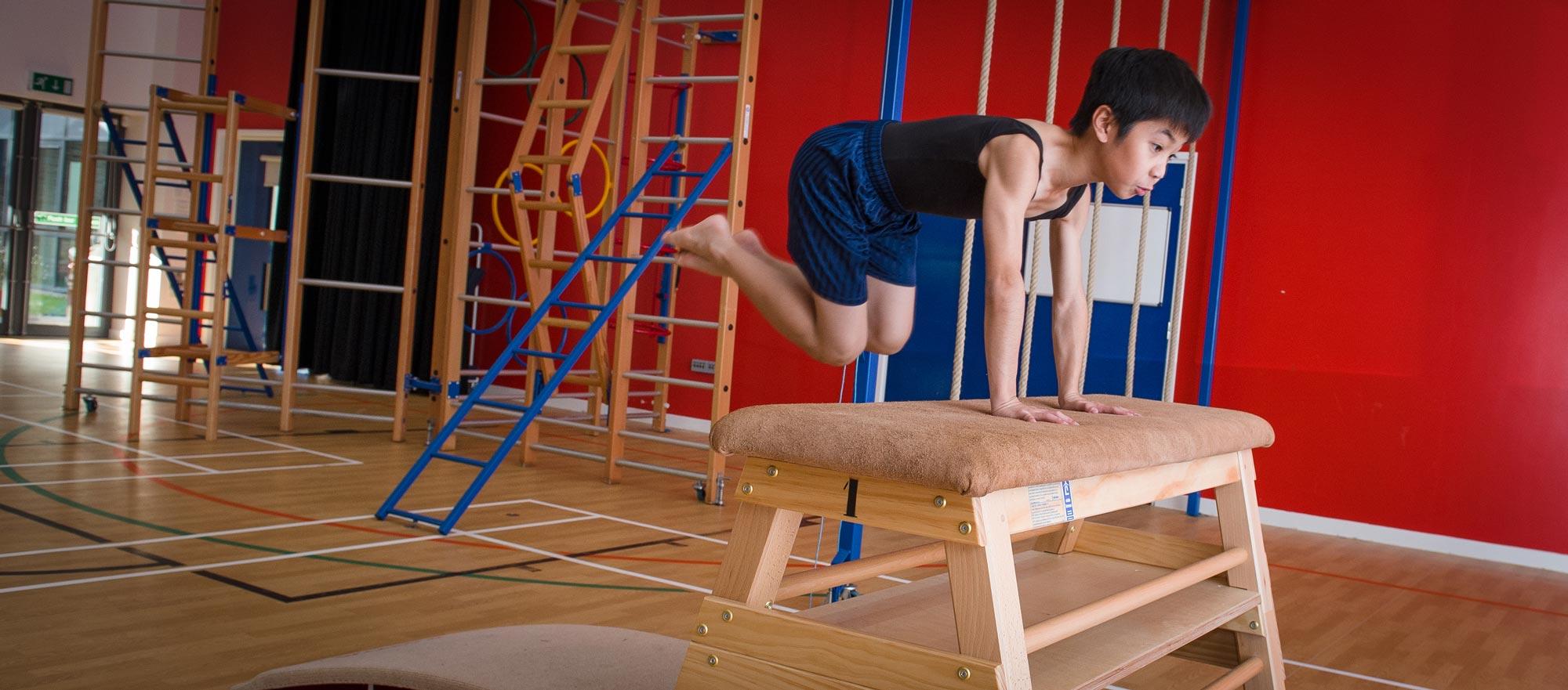 Gymnastic performance at Churchfields Junior