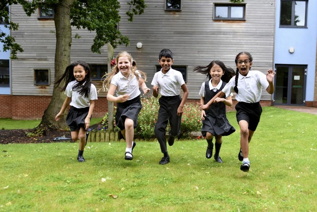 Pupils running