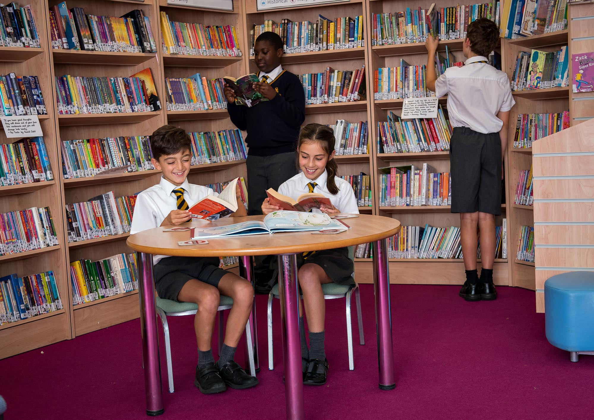 Children in the school library