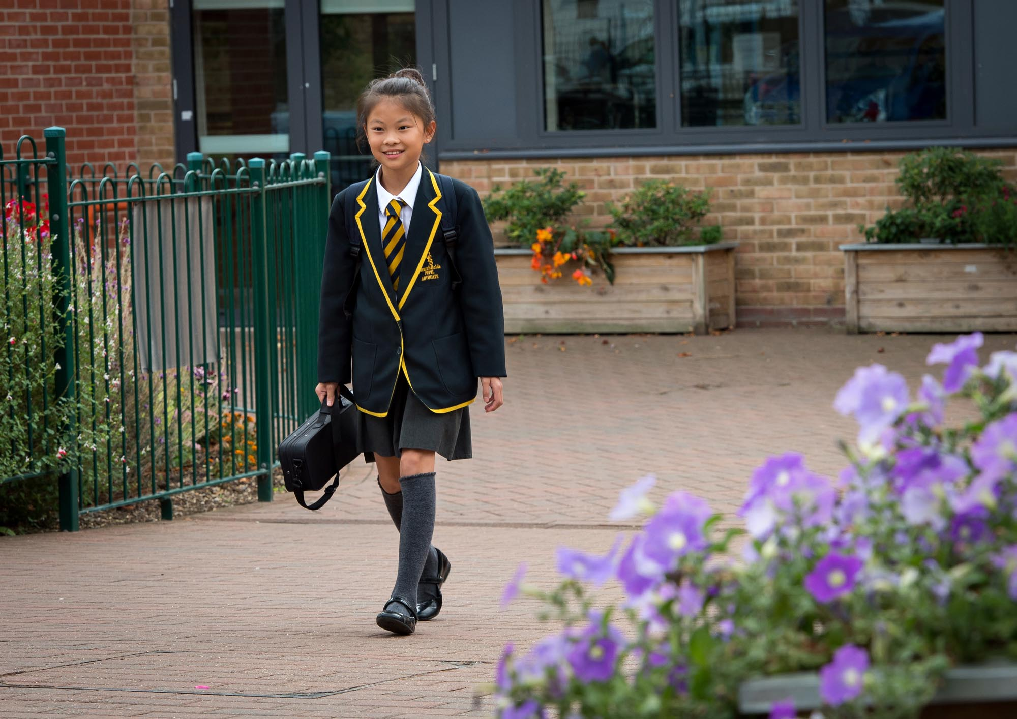 Child arriving at School