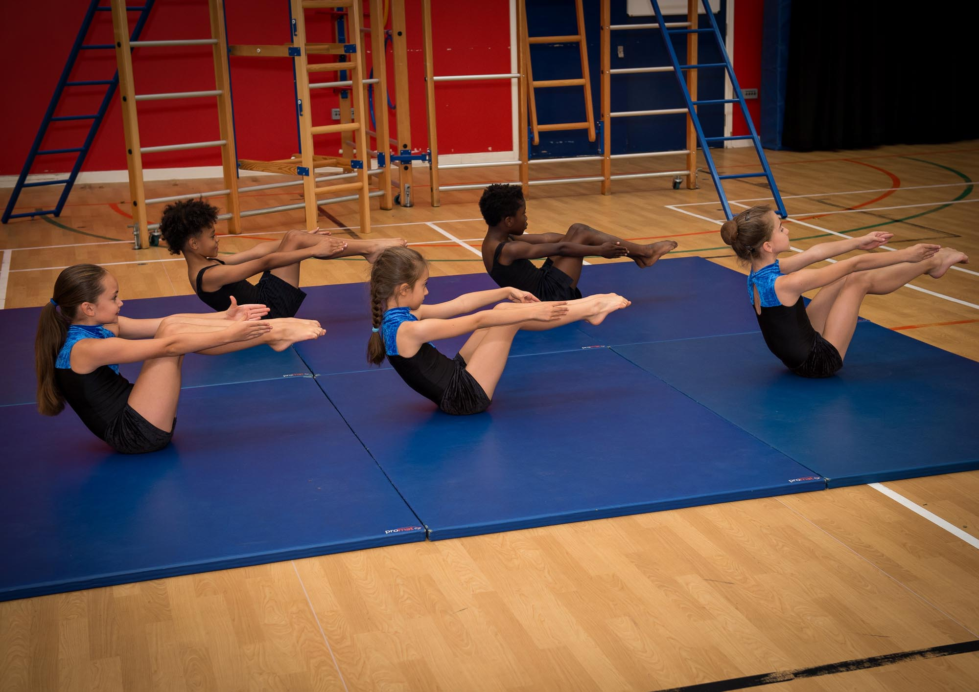 Gym exercise on floor