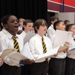 Boys' choir singing