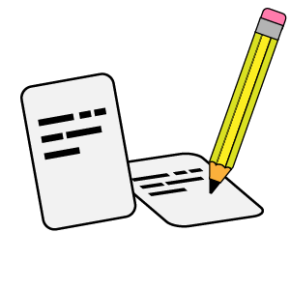 Cards Write quiz icon